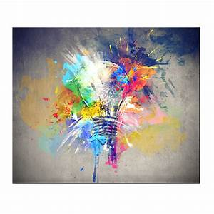 Abstract Bulb Lights Creative Home Decor Painting Canvas