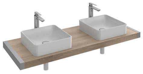 revetement plan de travail cuisine plan de travail pour 2 vasques vox evg102 40 cm ou evf102 60 cm jacob delafon