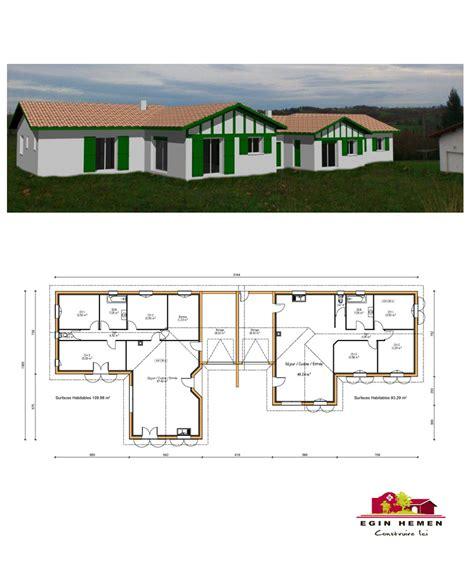 maison moderne plain pied 4 chambres plan maison 200m2 plein pied plan de maison moderne