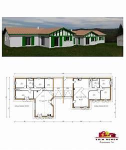 plan maison 200m2 plein pied bruno plein pied 4 agrandir With plan de maison mitoyenne
