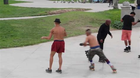 Eclectic Roller Skate Dancing In Venice Beach, California