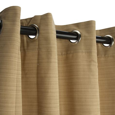 dupione bamboo grommet sunbrella outdoor curtains dfohome
