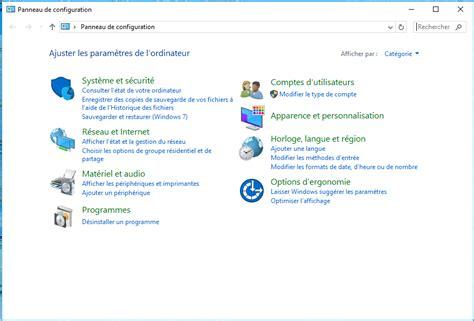 raccourci bureau windows 7 windows 10 ajouter le raccourci panneau de configuration