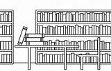 Library Coloring Colornimbus Drawing Adult sketch template
