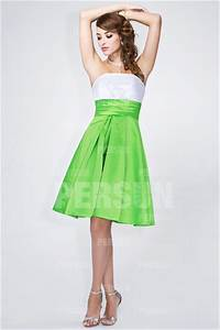 simple robe blanche et verte pour mariage persunfr With robe verte mariage