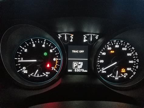 engine light on and off 2017 toyota tacoma check engine light and trac off