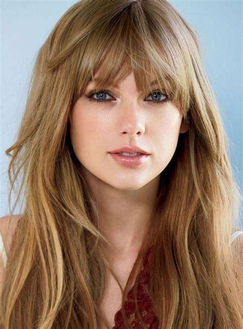popular long hairstyles layered  fringe