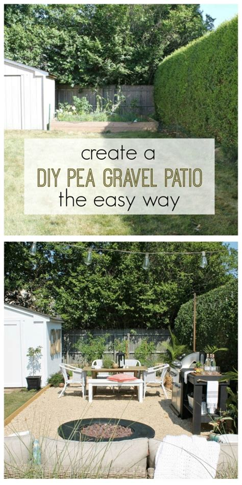 pea gravel patio create a diy pea gravel patio the easy way city farmhouse