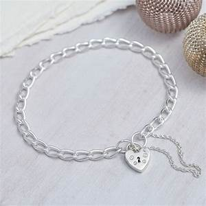 sterling silver padlock charm bracelet by hurleyburley ...