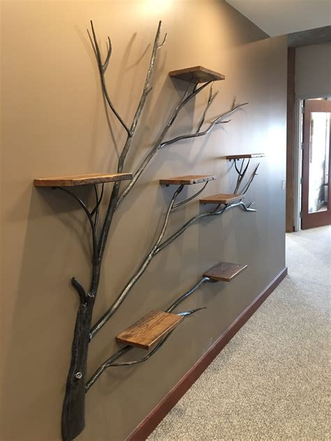 tree  life wall shelf frontier iron works