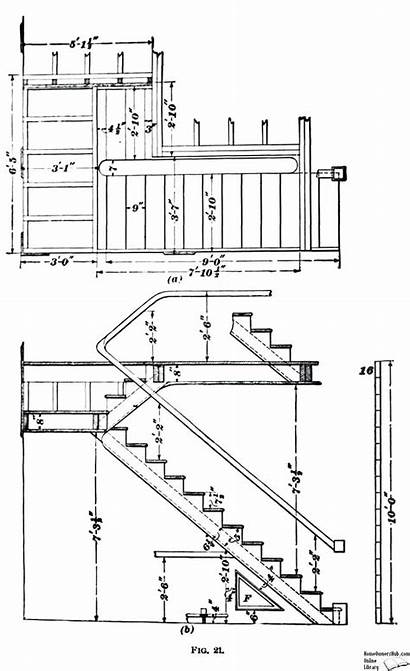 Stair Drawing Stairs Plan Elevation Section Construction
