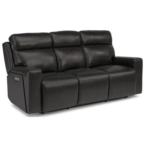 power reclining sofa with usb ports flexsteel latitudes niko contemporary power reclining sofa