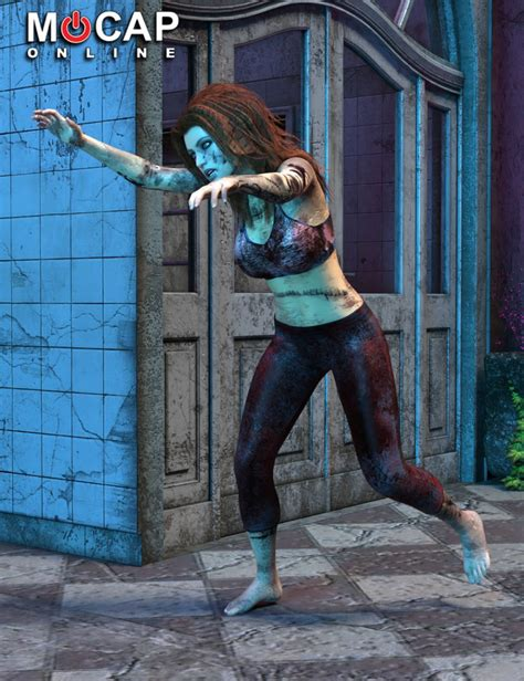 animation collection zombie victoria p2 3d