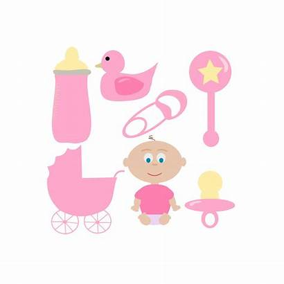 Clip Clipart Items Shower Cliparts Pink Booties