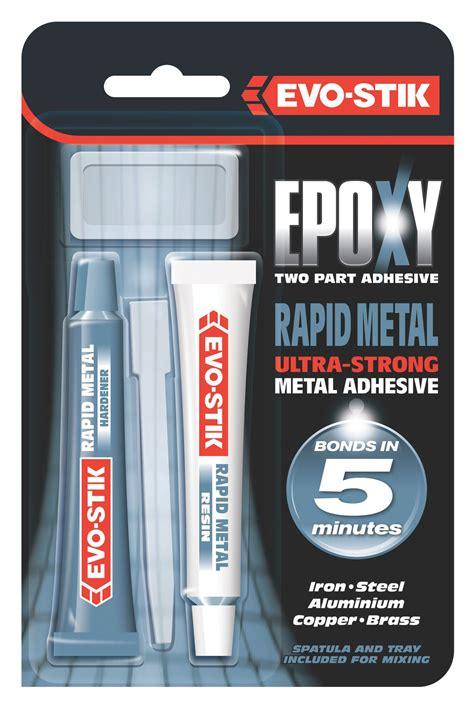 evo stik rapid metal epoxy glue ml departments diy