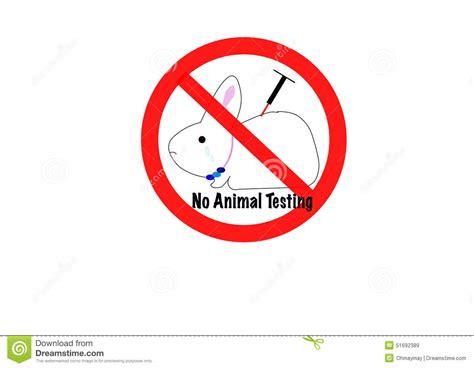 animal testing concept stock vector image