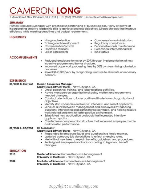 Hr Coordinator Resume by Simply Sle Of Human Resources Human Resources Resume