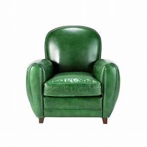 Fauteuil Club Cuir Maison Du Monde : fauteuil cuir vert vintage oxford maisons du monde ~ Melissatoandfro.com Idées de Décoration