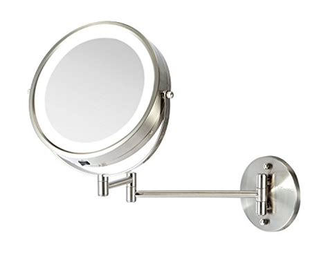 battery operated led lighted wall vanity makeup mirror magnification gift ebay