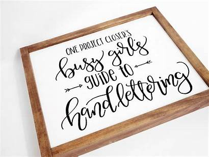 Hand Lettering Signs Diy Wooden Techniques