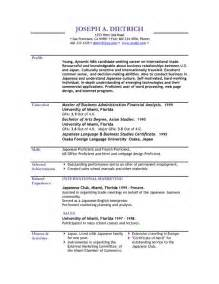 Resumes Templates Resume 2016