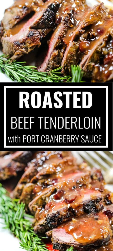Add to this, roast beef tenderloin most often appears on menus around the holidays. This Beef Tenderloin recipe with Port Wine Cranberry Sauce ...