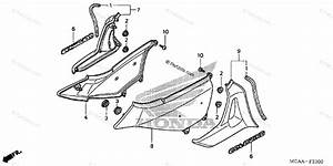 Honda Motorcycle 2008 Oem Parts Diagram For Side Cover