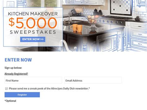kitchen makeover sweepstakes 5 000 kitchen makeover sweepstakes sweepstakes fanatics
