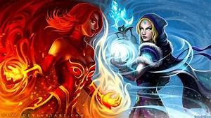 DOTA 2 Lina vs Crystal Maiden - DOTA 2 Wallpapers