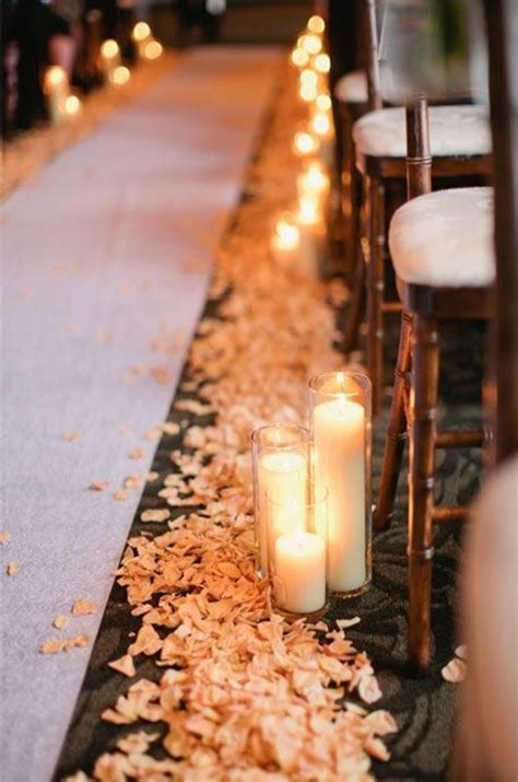 25 best ideas about wedding aisle candles on