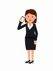 Corporate_Woman_Talking_on_the_Phone_GIF_Animation_Loop ...