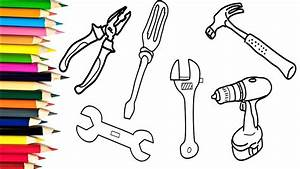 How To Draw Tools Repair Coloring Pages For Kids