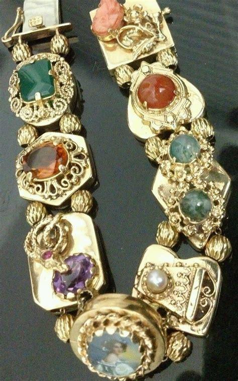 yg antique vintage  bracelet   gemstone