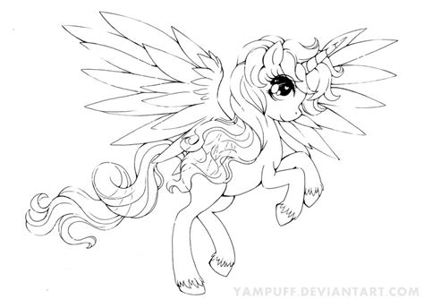 mlp alicorn base coloring coloring pages