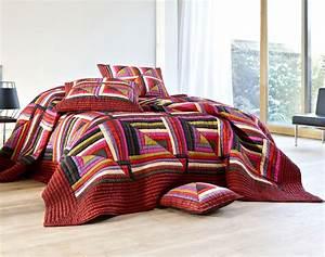 Boutis De Lit : boutis patchwork multicolore becquet ~ Teatrodelosmanantiales.com Idées de Décoration