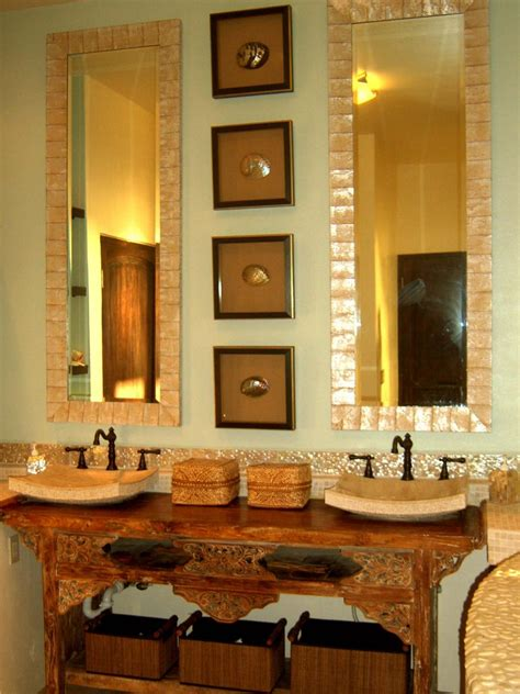 Bathroom Mirror by 10 Beautiful Bathroom Mirrors Hgtv