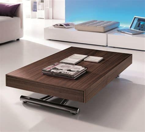 innovation table de salon relevable archzine fr