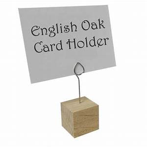 Oak Card holder The Essentials Company
