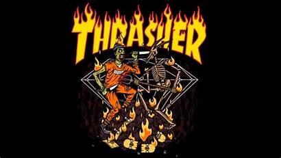 Thrasher Wallpapers Desktop Halloween Backgrounds Background Flames