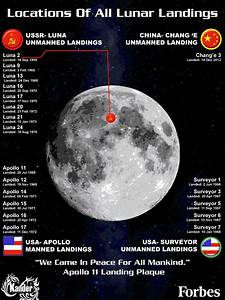 The Locations Of Every Lunar Landing [Infographic]