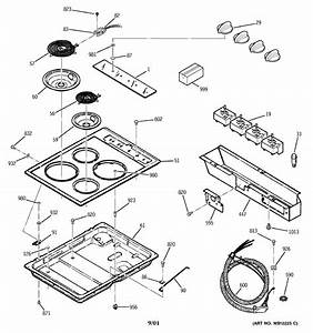 Ge Jp326wv2ww Electric Cooktop Parts