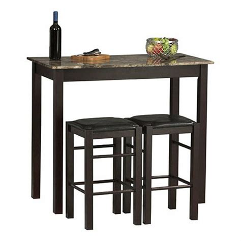 Breakfast Table With Stools by 3 Dining Set Bar Stools Pub Table Breakfast Chairs