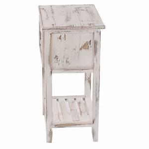 Beistelltisch Weiß Vintage : kommode 57x35x27cm shabby look vintage braun ~ Yasmunasinghe.com Haus und Dekorationen