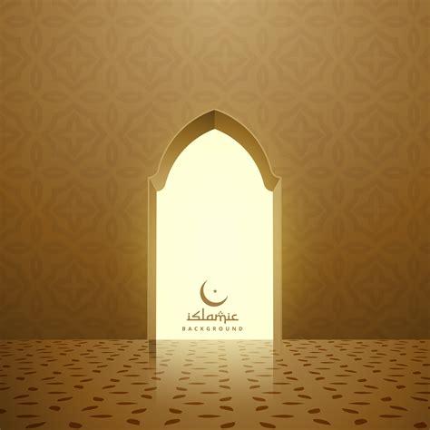 golden mosque interior  door   vector