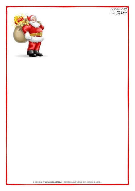 printable dear santa letter backgrounds borders cards santa letter paper template invitation template 32508