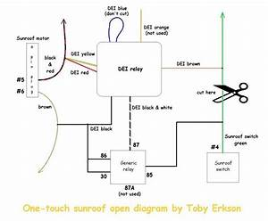 One-touch Sunroof Opening Using A Dei Timer Relay