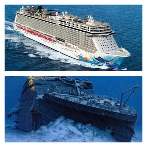 Modern cruise ships compared to titanic