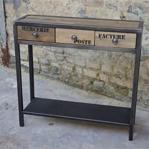 Console Fer Et Bois : console design console meuble meuble metal console m tal ~ Teatrodelosmanantiales.com Idées de Décoration