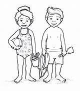 Coloring Pages Parts Bathing Suit Human Outline Anime Female Swimming Drawing Clipart Bikini Child Boy Preschoolers Template Printable Clip Getdrawings sketch template