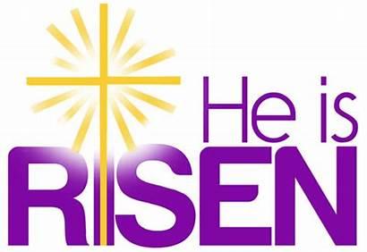 Easter Clip Christian Risen Clipart Christ Publications